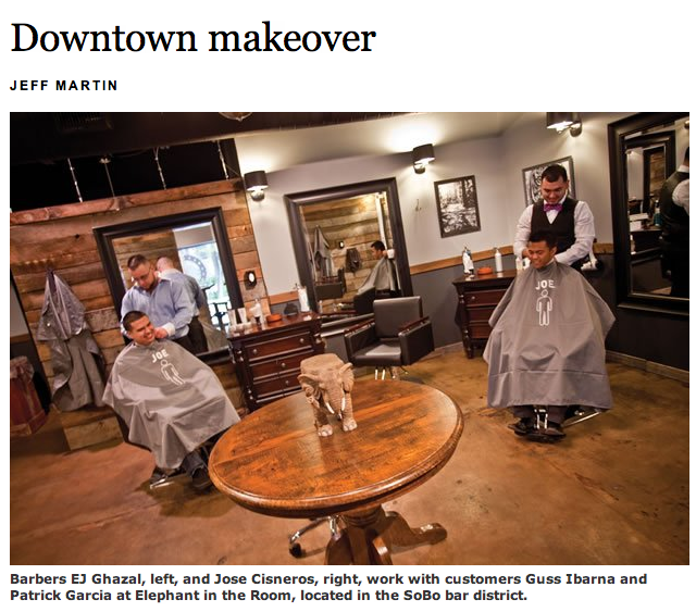 bringing mens styling to a tulsa barbershop elephant in