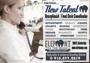 Front desk hiring flyer