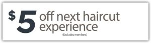 $5 Off next haircut experience