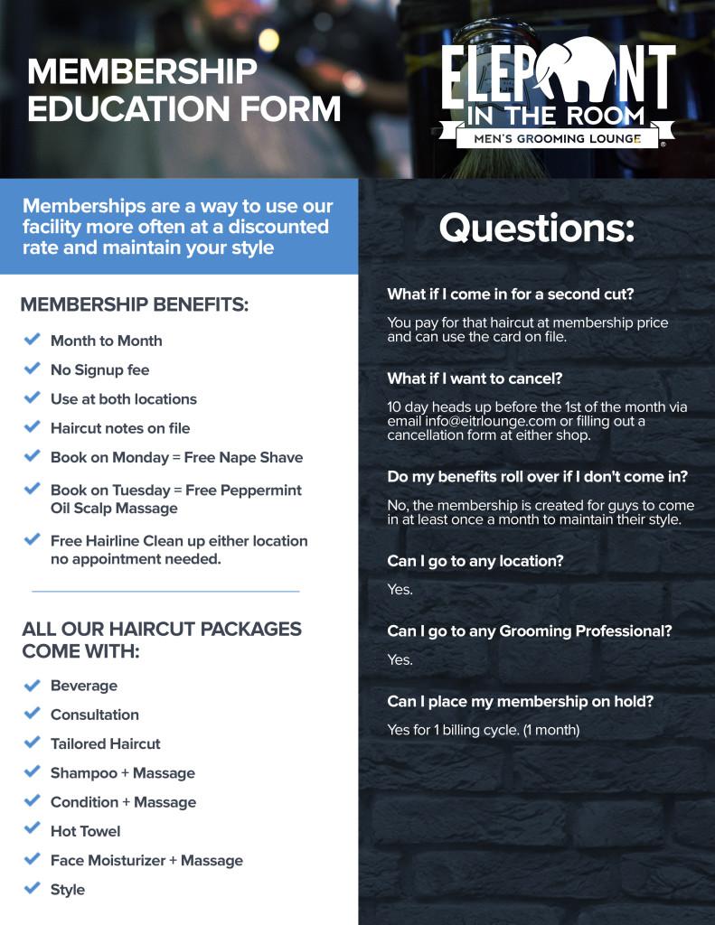 Client Membership Education Form - EITR