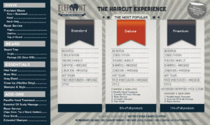 Mens Haircut Menu
