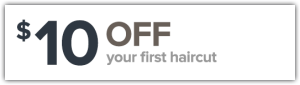 $10 off your first haircut